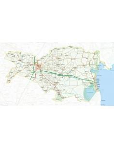 Mappa della provincia di Ferrara jpg scala 1:200.000