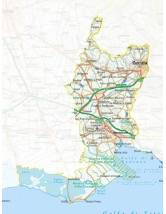 Mappa della provincia di Gorizia jpg scala 1:200.000