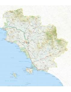 Mappa della provincia di Grosseto jpg scala 1:200.000