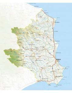 Mappa della provincia di Crotone jpg scala 1:200.000