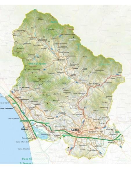 Cartina Italia Lucca.Mappa Della Provincia Di Lucca Jpg Scala 1 200 000