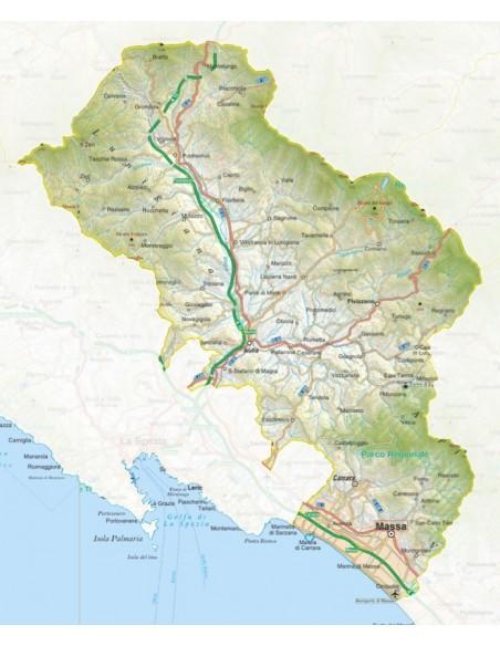 Cartina Italia Nel 400.Mappa Della Provincia Di Massa Carrara Jpg Scala 1 200 000