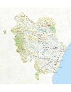 Mappa della provincia di Matera jpg scala 1:200.000