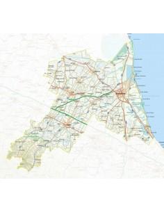 Mappa della provincia di Ravenna jpg scala 1:200.000