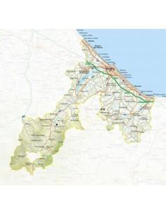 Mappa della provincia di Rimini jpg scala 1:200.000