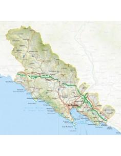 Mappa della provincia di La Spezia jpg scala 1:200.000