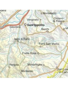 Cartina Geografica Provincia Di Pesaro Urbino.Mappa Della Provincia Di Pesaro Urbino Jpg Scala 1 200 000