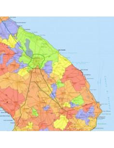 Cartina Dettagliata Puglia.Mappa Stradale Con Comuni Della Puglia Pdf