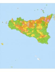 Cartina Sicilia Pdf.Mappa Stradale Con Comuni Della Sicilia Pdf