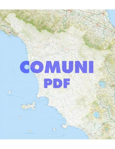 Cartina Stradale Toscana Da Stampare.Mappa Stradale Con Comuni Della Toscana Pdf