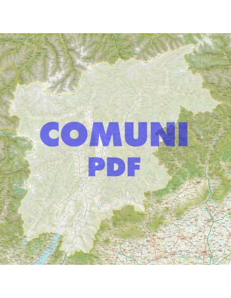 Trentino Alto Adige Cartina Stradale.Mappa Stradale Con Comuni Del Trentino Alto Adige Pdf