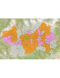 Cartina Della Valle D Aosta Da Stampare.Mappa Stradale Con Comuni Della Valle D Aosta Pdf