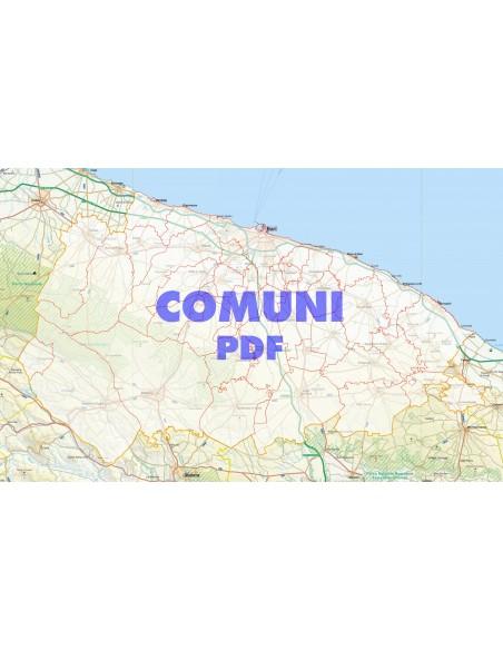 Bari Cartina Geografica.Mappa Stradale Con Comuni Della Provincia Di Bari Pdf