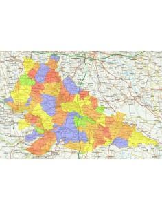 Cartina Geografica Della Provincia Di Mantova.Mappa Stradale Con Comuni Della Provincia Di Mantova Pdf