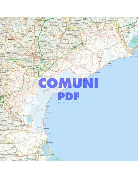 Cartina Di Venezia Con Vie.Mappa Stradale Con Comuni Della Provincia Di Venezia Pdf