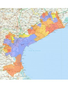 Cartina Di Venezia E Provincia.Mappa Stradale Con Comuni Della Provincia Di Venezia Pdf