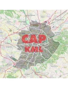 Mappa dei cap di Torino KML