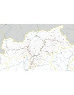 Carta stradale con CAP della provincia di Bolzano/Bozen jpg