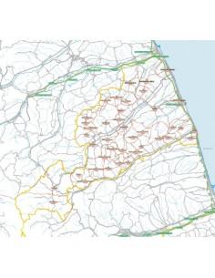 Carta stradale con CAP della provincia di Fermo jpg