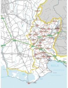 Carta stradale con CAP della provincia di Gorizia jpg
