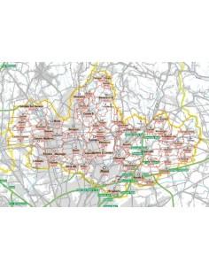 Carta stradale con CAP della provincia di Monza e Brianza jpg