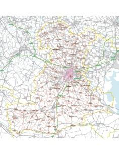 Carta stradale con CAP della provincia di Padova jpg