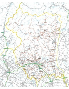 Carta stradale con CAP della provincia di Pordenone jpg