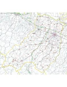 Carta stradale con CAP della provincia di Parma jpg
