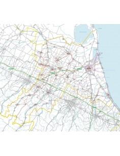 Carta stradale con CAP della provincia di Ravenna jpg
