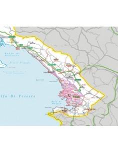 Carta stradale con CAP della provincia di Trieste jpg