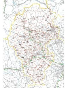 Carta stradale con CAP della provincia di Vicenza jpg