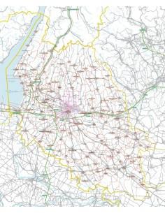 Carta stradale con CAP della provincia di Verona jpg