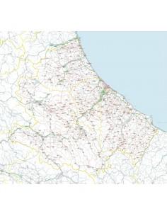 Carta stradale con CAP dell'Abruzzo jpg