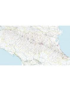 Carta stradale con CAP dell'Emilia Romagna jpg
