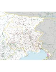 Carta stradale con CAP del Friuli Venezia Giulia jpg