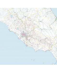 Carta stradale con CAP del Lazio jpg