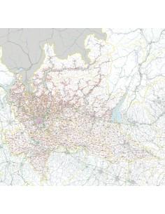 Carta stradale con CAP della Lombardia jpg