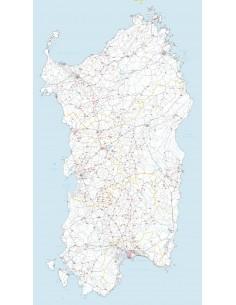 Carta stradale con CAP della Sardegna jpg