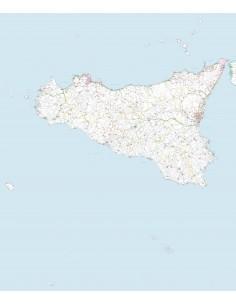 Carta stradale con CAP della Sicilia jpg
