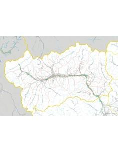 Carta stradale con CAP della Valle d'Aosta jpg