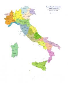 Cartina Italia Muta Con Province.Cartina Italia Con Regioni E Province Da Stampare