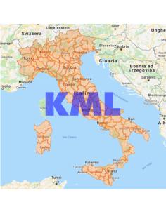Mappa delle Province e Regioni d'Italia KML