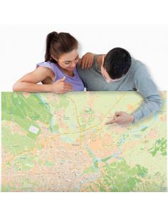 Mappa di Torino - PANNELLO 120x120 cm