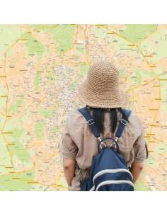 Mappa di Roma GRA - POSTER 120x120 cm