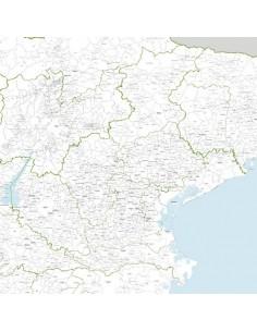 Mappa dei comuni del Veneto - PANNELLO 110x110 cm