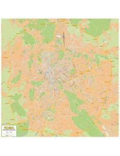Mappa di Roma e GRA - Banner PVC 200x200 cm