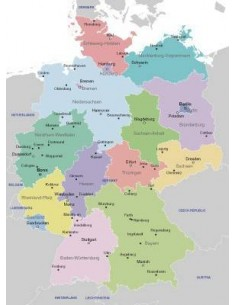 Regioni Germania Cartina.Germania Mappa Delle Regioni Pdf