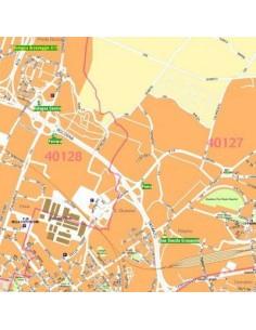 Mappa di Bologna comune jpg 1:20.000 con CAP
