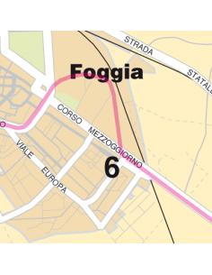 Mappa di Foggia jpg 1:100.000 con CAP