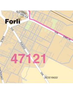 Mappa di Forli_ jpg 1:100.000 con CAP